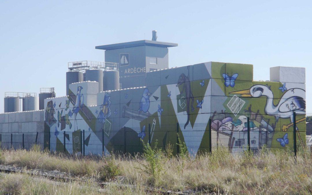 Un graff géant pour inciter les professionnels à recycler leurs déchets